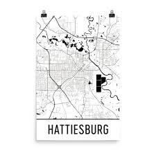 map of hattiesburg ms hattiesburg map hattiesburg hattiesburg print