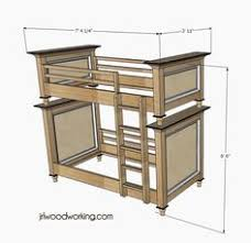 Free Twin Over Double Bunk Bed Plans by Heavy Duty Solid Wood Bunk Bed 1000 Lbs Wt Capacity Many