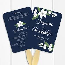 wedding programs fans templates printable wedding program fan template floral ceremony program