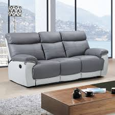 Gray Reclining Sofa by Fancy Gray Leather Reclining Sofa 74 In Living Room Sofa Ideas