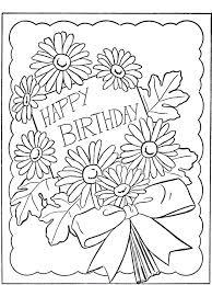 happy birthday mom coloring pages getcoloringpages