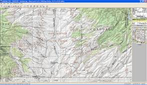 Topographic Map Of Arizona by Expeditions West Mexico Border Trail Arizona
