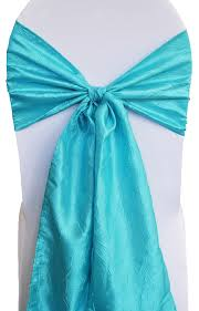 blue chair sashes crushed crinkle taffeta chair sashes