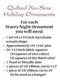 starry no sew ornament pattern