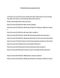 the best resume samples for jobs 1 638 jpg cb u003d1497134184