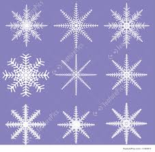 illustration of snowflakes ready for brush templates