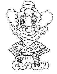 coloring printable clown circus pages kidskat pdf