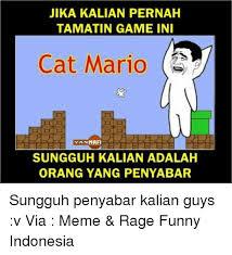 Meme Rage Indonesia - 25 best memes about cat mario cat mario memes