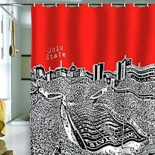 Ohio State Curtains Ohio State Kitchen Curtains Ohio State Shower Curtain Furniture