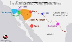 map usa mexico border tribes spanning the us mexico border the decolonial atlas