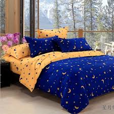 Duvet Cover Stars Aliexpress Com Buy Free Shipping Stars And Moon Pattern Bed Set