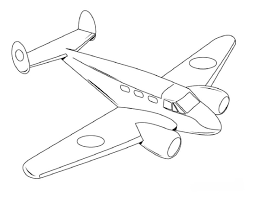 airplane coloring page virtren com