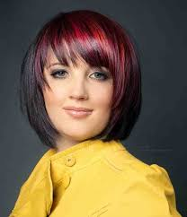 easy to maintain bob hairstyles flattering bob hairstyles streaked bob for black hair with red