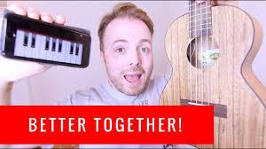 ukulele keyboard tutorial better together jack johnson easy ukulele tutorial youtube