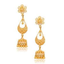 gold jhumka hoop earrings gold jhumka at rs 33475 pair gold jhumka gold jhumke gold