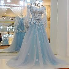 blue wedding dress light blue wedding dresses lace wedding gowns prom dress
