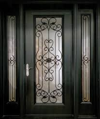 an exquisite and stylish decorative wrought iron front door insert