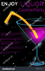 bright pink cocktail martini glass part stock vector 639334348