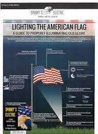 Position Of Flags Sparky U0027s Electric American Flag Illumination