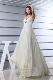 empire wedding dress ivory empire waist chiffon wedding dress a line v neck chiffon