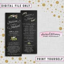 Wedding Program Chalkboard The Perfect Blend Favor Tags