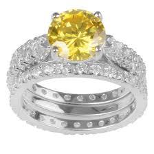wedding ring set for 5 4 5 ct t w cut cz basket set wedding ring set in