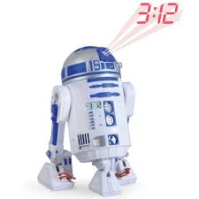 Clock That Shines Time On Ceiling by The R2 D2 Projection Alarm Clock Hammacher Schlemmer