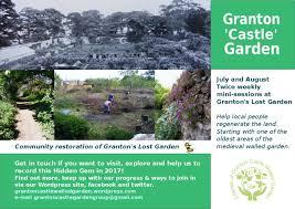 friends of granton castle garden granton u0027s lost castle garden