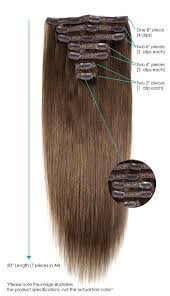 clip in extensions light blondish brown 20in clip in hair extensions leyla milani hair