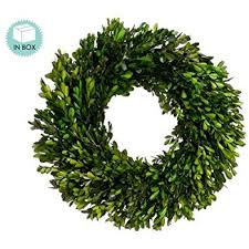 preserved boxwood wreath 17 inch real boxwood wreath preserved home kitchen