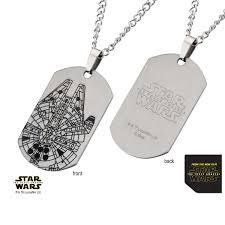 steel dog tag necklace images Episode 7 millennium falcon laser etched dog tag pendant jpg