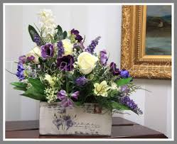Shabby Chic Flower Arrangement by Purple And White Shabby Chic Arrangement Artificial Silk Flower