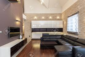 grand design interior of a modern and minimalist house stock