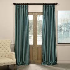 peacock vintage textured faux dupioni silk curtains