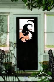 easy diy halloween decor 57 homemade halloween decorations garage door door delights