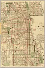 chicago map streets blanchard s map of chicago david rumsey historical map collection