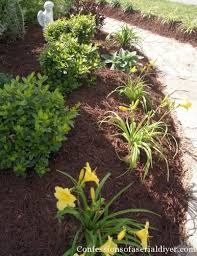 How To Mulch Flower Beds How To Create A Landscape From Scratch Confessions Of A Serial