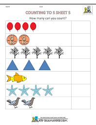 math counting worksheet preschool counting worksheets counting to 5