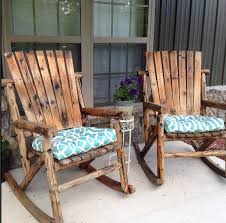 lovely wooden rocking chairs for front porch