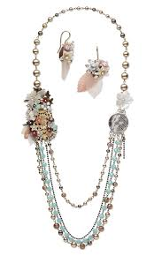 multi crystal necklace images Jewelry design multi strand necklace and earring set with jpg