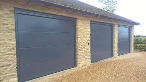 Elite Garage Door by Trio Of Iso 45 Flush Sectional Garage Doors In Ral7015 Elite Gd