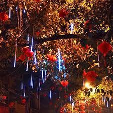 outdoor string lights rain the led lights emulate falling snow in the night sky each bulb