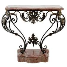 Iron Console Table French Wrought Iron Console With Marble Top Marble Top Wrought