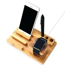 diy charging dock iphone stand for desk wood charging station wooden dock 3 in 1