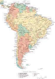 South America Map Countries by South America Large Detailed Political Map With All Roads And
