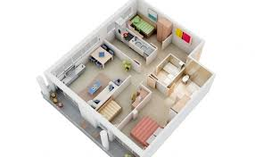 3 Bedroom House Plans Free Houses With 3 Bedrooms Exquisite 5 View Free 3 D Designs Here Of 2