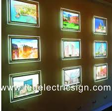 High Quality Acrylic Led Poster Frame Advertising Led Light Box In