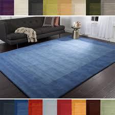 Overstock Com Large Area Rugs Hand Loomed Ghana Solid Bordered Tone On Tone Wool Area Rug 5 U0027 X