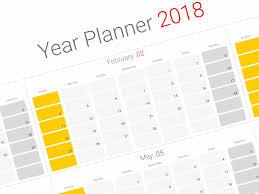 printable annual planner year planner 2018 roberto mattni co