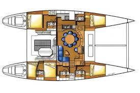 lagoon 570 catamaran charter croatia split skippered sailing